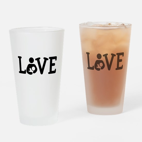 Breastfeeding Love Drinking Glass