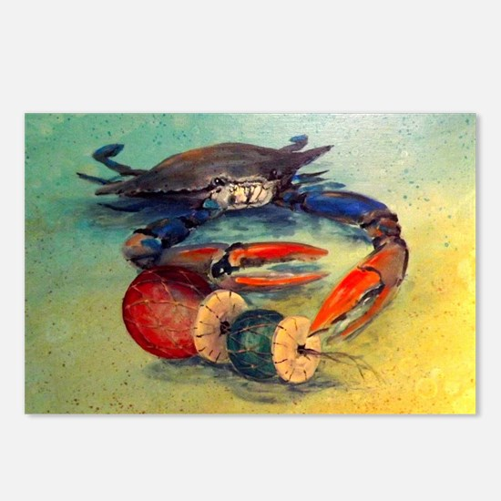 Beach Crab Postcards (Package of 8)