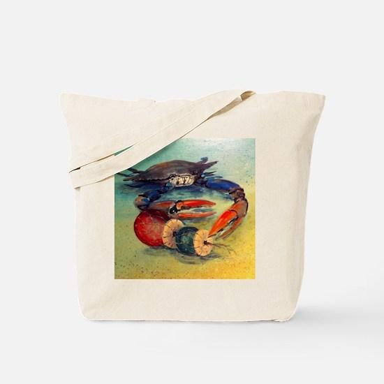 Beach Crab Tote Bag