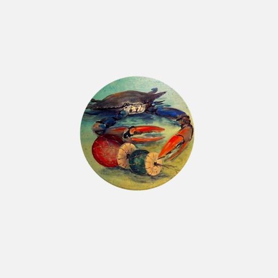 Beach Crab Mini Button