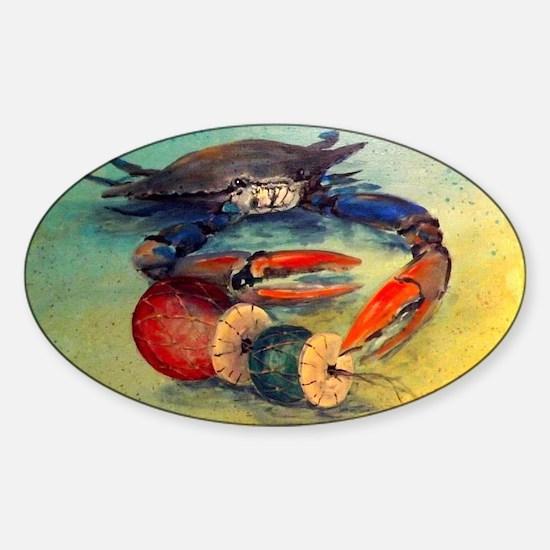 Beach Crab Sticker (Oval)