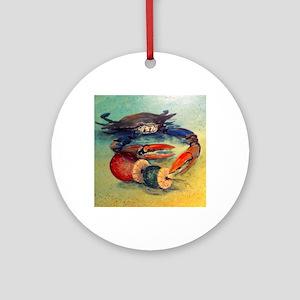 Beach Crab Round Ornament
