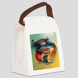 Beach Crab Canvas Lunch Bag