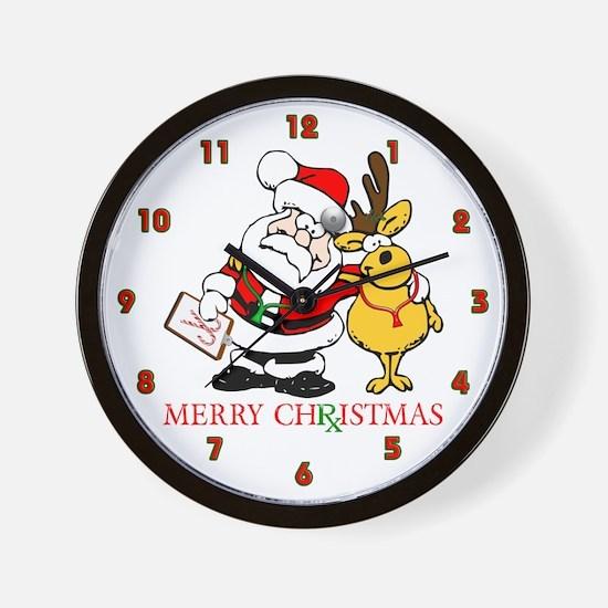 Santa Doctor Christmas Wall Clock