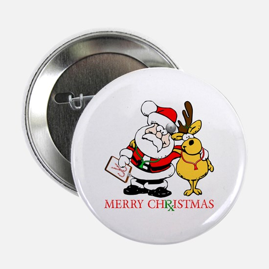 "Santa Doctor Christmas 2.25"" Button"