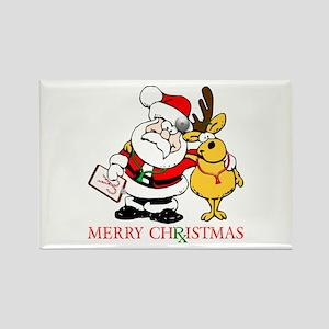Santa Doctor Christmas Rectangle Magnet