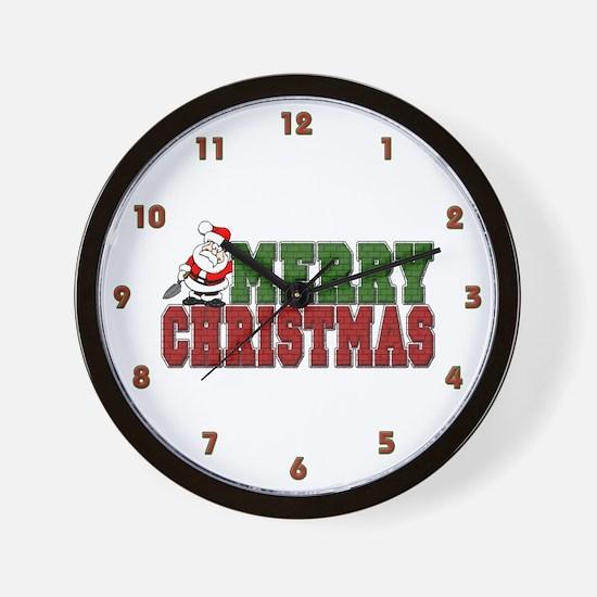 Bricklayer Christmas Wall Clock