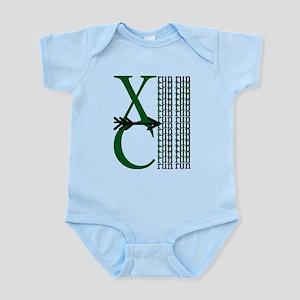 XC Run Green Black Body Suit