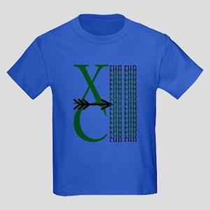 XC Run Dark Green White T-Shirt