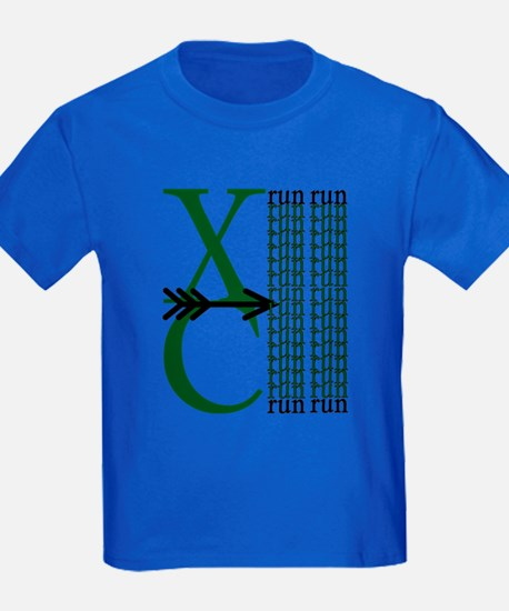 XC Run Dark Green White T-Shirt