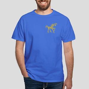 Gold Invitation to the Unicorn Dark T-Shirt