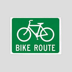 Bike Route 5'x7'Area Rug