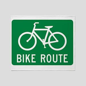 Bike Route Throw Blanket