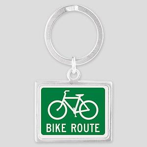 Bike Route Landscape Keychain