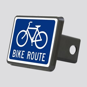 Bike Route Rectangular Hitch Cover