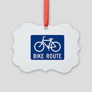 Bike Route Picture Ornament