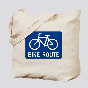 Bike Route Tote Bag
