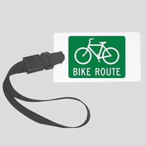 Bike Route Large Luggage Tag
