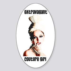 Extravagant Couture Girl Oval Sticker