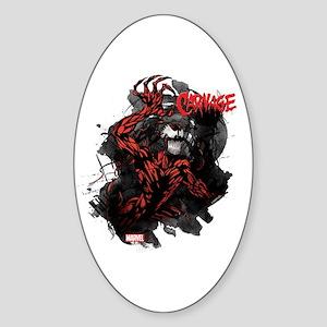 Grunge Carnage Sticker (Oval)