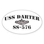 USS DARTER Sticker (Oval)