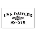 USS DARTER Sticker (Rectangle)