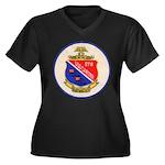 USS DARTER Women's Plus Size V-Neck Dark T-Shirt