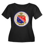 USS DART Women's Plus Size Scoop Neck Dark T-Shirt