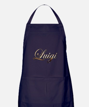 Gold Luigi Apron (dark)