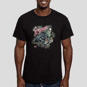 Pink Venom Men's Fitted T-Shirt (dark)