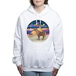 X-Star-Shetland Pony Women's Hooded Sweatshirt
