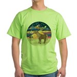 X-Star-Shetland Pony Green T-Shirt