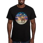 X-Star-Shetland Pony Men's Fitted T-Shirt (dark)
