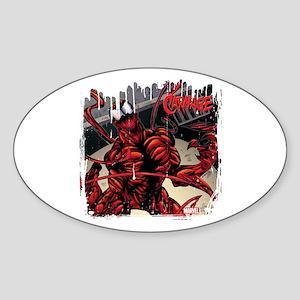 Carnage Panel Art Sticker (Oval)