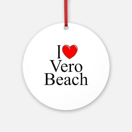 """""""I Love Vero Beach"""" Ornament (Round)"""