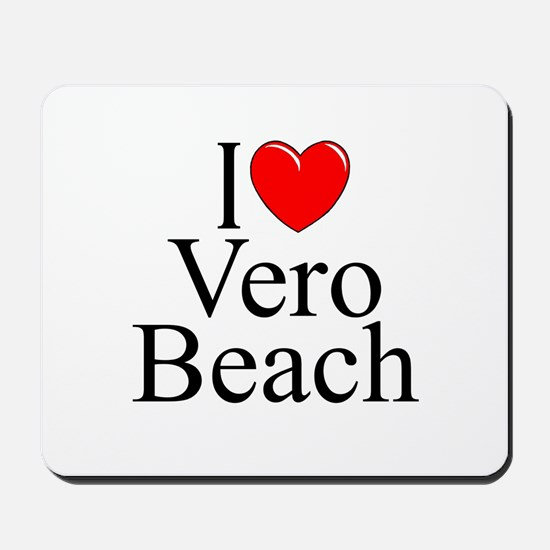 """I Love Vero Beach"" Mousepad"