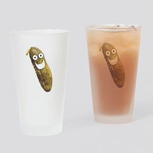 Happy Pickle Drinking Glass