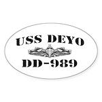 USS DEYO Sticker (Oval)
