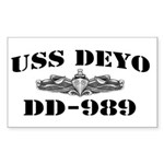 USS DEYO Sticker (Rectangle)