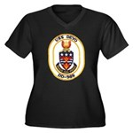 USS DEYO Women's Plus Size V-Neck Dark T-Shirt