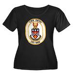 USS DEYO Women's Plus Size Scoop Neck Dark T-Shirt