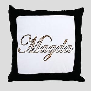 Gold Magda Throw Pillow