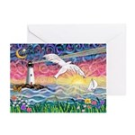 Lighthouse Seagull Greeting Cards (Pk of 10)