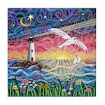 Lighthouse Seagull Tile Coaster
