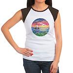 Lighthouse Seagull Junior's Cap Sleeve T-Shirt