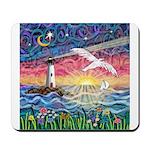 Lighthouse Seagull Mousepad