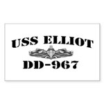 USS ELLIOT Sticker (Rectangle)