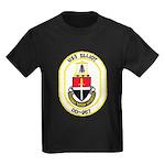 USS ELLIOT Kids Dark T-Shirt