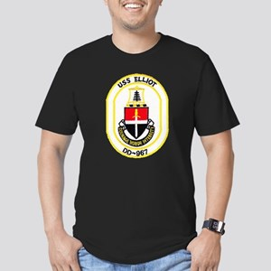 USS ELLIOT Men's Fitted T-Shirt (dark)