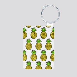 'Pineapples' Aluminum Photo Keychain